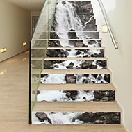 abordables Adhesivos Decorativos-Pegatinas de piso - Calcomanías 3D para Pared Paisaje Sala de estar