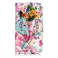 Назначение Чехлы панели Кошелек Бумажник для карт со стендом Флип Рельефный С узором Магнитный Чехол Кейс для Слон Цветы Твердый