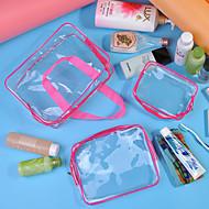 お買い得  トラベル小物-3本 旅行かばん / 旅行かばんオーガナイザー 防水 / 携帯用 / 防湿 キャンピング&ハイキング / ローラー付きスーツケース PVC