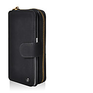 Недорогие Чехлы и кейсы для Galaxy S8-Кейс для Назначение SSamsung Galaxy S8 Plus / S8 Кошелек / Бумажник для карт / со стендом Мешочек Однотонный Твердый Кожа PU для S8 Plus / S8