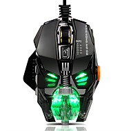 Bedrade rgb geleid backlit adem 4000dpi 8 knoppen gaming muis muizen metaal usb ergonomische optische gamer muis laptop computer