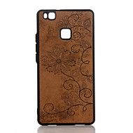 Pour Relief Coque Coque Arrière Coque Mandala Dur Cuir PU pour HuaweiHuawei P10 Plus Huawei P10 Huawei P9 Lite Huawei P8 Lite (2017)