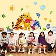 애니멀 카툰 패션 벽 스티커 플레인 월스티커 데코레이티브 월 스티커,종이 자료 홈 장식 벽 데칼