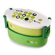 お買い得  収納&整理-1個 ランチボックス プラスチック 使いやすい キッチン組織