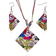 povoljno -Žene Svadbeni nakit Setovi Jewelry Boemski stil Dnevno Kauzalni 1 Ogrlica 1 par naušnica
