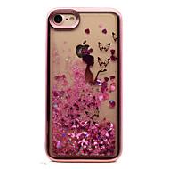 Για το iphone 7 plus 7 tpu υλικό επένδυση λέιζερ σκάλισμα quicksand περίπτωση τηλέφωνο 6s συν 6 plus 6s 6 se 5s 5