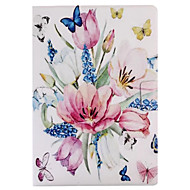 cheap -For Case Cover Card Holder with Stand Flip Pattern Smart Touch Full Body Case Flower Hard PU Leather for iPad (2017) Pro10.5 Pro9.7 Air2 iPad234