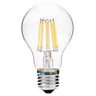 8W LED-hehkulamput A60(A19) 8 COB 600 lm Lämmin valkoinen Valkoinen V 1 kpl