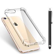 Назначение iPhone X iPhone 8 iPhone 8 Plus Чехлы панели Защита от удара Прозрачный Задняя крышка Кейс для Сплошной цвет Мягкий