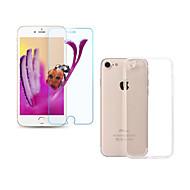 Недорогие Защитные плёнки для экрана iPhone-Защитная плёнка для экрана Apple для iPhone 7 Закаленное стекло 1 ед. Защитная пленка для экрана Ультратонкий 2.5D закругленные углы
