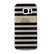 olcso Galaxy S7 tokok-Case Kompatibilitás Samsung Galaxy S8 Plus S8 IMD Minta Fekete tok Vonalak / hullámok Csillogó Puha TPU mert S8 Plus S8 S7 edge S7 S6