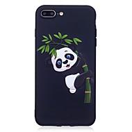 Недорогие Кейсы для iPhone-Для iphone 7 плюс 6 плюс 6s se 5s 5 чехол чехол панда рельефная задняя крышка мягкая tpu