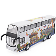 Geri Çekme Araçları Oyuncak arabalar Kamyon Oyuncaklar Simülasyon Otobüs Metal Alaşımlı Metal Parçalar Unisex Hediye