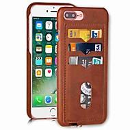 Недорогие Кейсы для iPhone 8 Plus-Кейс для Назначение Apple iPhone X iPhone 8 Бумажник для карт Кейс на заднюю панель Сплошной цвет Твердый Кожа PU для iPhone X iPhone 8