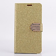 Недорогие Чехлы и кейсы для Galaxy Note-Кейс для Назначение SSamsung Galaxy Бумажник для карт Кошелек Стразы со стендом Флип Чехол Сплошной цвет Сияние и блеск Твердый Кожа PU