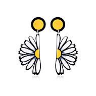Недорогие Украшения в цветочном стиле-Жен. Серьги-слезки - Массивный, Богемные, Классический Желтый Назначение День рождения Вечерние градация