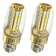 お買い得  LED コーン型電球-2pcs 9W 620lm LEDコーン型電球 T 58 LEDビーズ SMD 2835 温白色 / ホワイト 220-240V