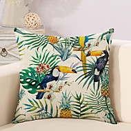 cheap Home Textiles-1 pcs Cotton/Linen Pillow Case Pillow Cover, Printing Animal Novelty Vintage Casual Tropical European Neoclassical Traditional/Classic