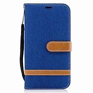Case Kompatibilitás Samsung Galaxy J5 (2016) J3 (2016) Kártyatartó Pénztárca Állvánnyal Flip Mágneses Teljes védelem Tömör szín Kemény