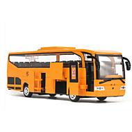 Geri Çekme Araçları Oyuncak arabalar Otobüs Oyuncaklar Simülasyon Döşeme Makaleleri LED Işıklar Araba Metal Alaşımlı Parçalar Unisex