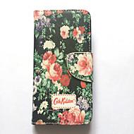 Für Apfel iphone 6s iphone 6 Fallabdeckungs-Kartenhaltermappe mit Standplatz-Flipmuster volles Körperkastenblume hartes PU-Leder