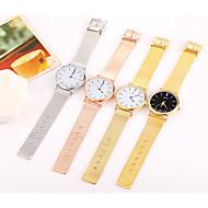 baratos Relógios em Oferta-Mulheres Relógio de Moda Relógio de Pulso Relógio Casual Chinês Quartzo Aço Inoxidável Banda Casual Legal Minimalista Preta Prata