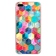 cheap Apple Accessories-Case For Apple iPhone X iPhone 8 Pattern Back Cover Geometric Pattern Soft TPU for iPhone X iPhone 8 Plus iPhone 8 iPhone 7 Plus iPhone 7
