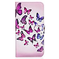 Case Kompatibilitás Samsung Galaxy S8 Plus S8 Pénztárca Kártyatartó Állvánnyal Flip Minta Mágneses Teljes védelem Pillangó Kemény Műbőr