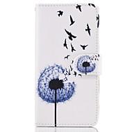 Недорогие Чехлы и кейсы для Galaxy S8 Plus-Кейс для Назначение SSamsung Galaxy S8 Plus S8 Бумажник для карт Кошелек со стендом Флип Чехол одуванчик Твердый Кожа PU для S8 Plus S8