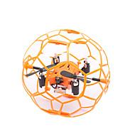 RC Drone M70 4 Kanal 6 Akse 2.4G - Fjernstyrt quadkopter LED-belysning Flyvning Med 360 Graders Flipp Sveve Fjernstyrt Quadkopter