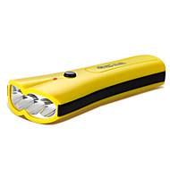 YAGE YG-3204 LED손전등 LED lm 2 모드 LED 충전식 컴팩트 사이즈 작은 사이즈 밝기조절가능 캠핑/등산/동굴탐험 일상용 등산 야외 오렌지 옐로우