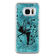 Недорогие Чехлы и кейсы для Galaxy S-Кейс для Назначение SSamsung Galaxy S8 Plus S8 Движущаяся жидкость Прозрачный С узором Кейс на заднюю панель Бабочка Прозрачный Сияние и