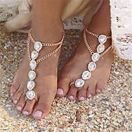 お買い得  -真珠 ベアフットサンダル - 人造真珠 ドロップ ファッション ゴールド / シルバー 用途 日常 カジュアル 女性用 / ラインストーン