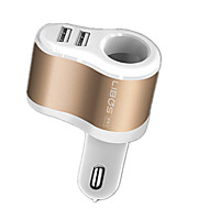 Недорогие Автомобильные зарядные устройства-Быстрая зарядка Другое 2 USB порта Только зарядное устройство DC 5V/3.1A 2,4A