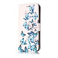 Кейс для Назначение SSamsung Galaxy J7 (2016) J5 (2016) Кошелек Бумажник для карт со стендом Флип Чехол Бабочка Твердый Искусственная кожа