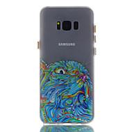 Для samsung galaxy s8 s8 плюс чехол крышка кошка узор окрашенный материал tpu светящийся корпус телефона s7 s7edge