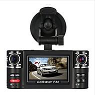 Недорогие Видеорегистраторы для авто-F30S HD 1280 x 720 Автомобильный видеорегистратор 120° Широкий угол 2.7 дюймовый Капюшон с Автомобильный рекордер