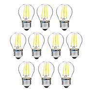 4W LED-hehkulamput G45 4 COB 300 lm Lämmin valkoinen Valkoinen Himmennettävissä V 10 kpl