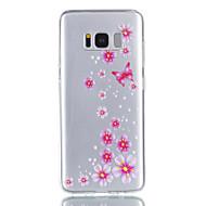 Недорогие Чехлы и кейсы для Galaxy S8 Plus-Кейс для Назначение SSamsung Galaxy S8 Plus S8 Прозрачный С узором Кейс на заднюю панель Бабочка Цветы Мягкий ТПУ для S8 Plus S8 S7 edge