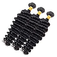 Недорогие Накладки и пряди-Индийские волосы Крупные кудри Ткет человеческих волос 1 шт. 0.1