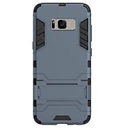 Недорогие Чехлы и кейсы для Galaxy S8 Plus-Кейс для Назначение SSamsung Galaxy S8 Plus S8 Защита от удара со стендом Задняя крышка Сплошной цвет Твердый PC для S8 S8 Plus