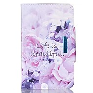 cheap Galaxy Tab 4 8.0 Cases / Covers-Case For Samsung Galaxy Tab A 9.7 Card Holder Wallet with Stand Flip Magnetic Full Body Cases Flower Hard PU Leather for Tab 4 10.1 Tab 4