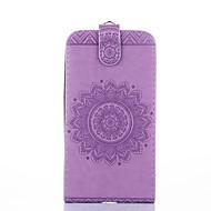 Недорогие Чехлы и кейсы для Galaxy Ace 4-Кейс для Назначение SSamsung Galaxy Бумажник для карт со стендом Флип Рельефный Чехол Сплошной цвет Цветы Твердый Кожа PU для Core Prime