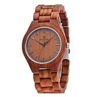 お買い得  -男性用 腕時計 ウッド 日本産 クォーツ 木製 ウッド バンド ぜいたく Elegant ブラウン