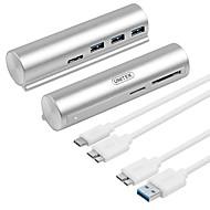 baratos Hubs USB-Unitek 3 portas Hub USB USB 3.0 Com Mangement do fio Hub de dados