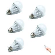 5W E27 Slimme LED-lampen A70 18 SMD 2835 400 lm Warm wit Koel wit 2700-6500 K Sensor Geluidsgeactiveerd Decoratief Licht controle V