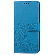 preiswerte Handyhüllen-Hülle Für BQ Kreditkartenfächer Geldbeutel mit Halterung Flipbare Hülle Muster Geprägt Ganzkörper-Gehäuse Blume Hart PU-Leder für Aquaris