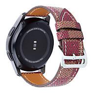 Недорогие Часы для Samsung-Ремешок для часов для Gear S3 Frontier Gear S3 Classic Samsung Galaxy Классическая застежка Натуральная кожа Повязка на запястье