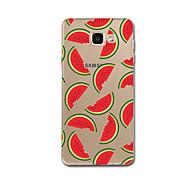 voordelige Galaxy A-serie hoesjes / covers-hoesje Voor Samsung Galaxy A5(2017) A3(2017) Transparant Patroon Achterkantje Tegel Fruit Zacht TPU voor A3 (2017) A5 (2017) A7 (2017) A8