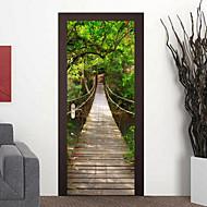 abordables Adhesivos Decorativos-Arquitectura Pegatinas de pared Calcomanías 3D para Pared 3D, Vinilo Decoración hogareña Vinilos decorativos Pared